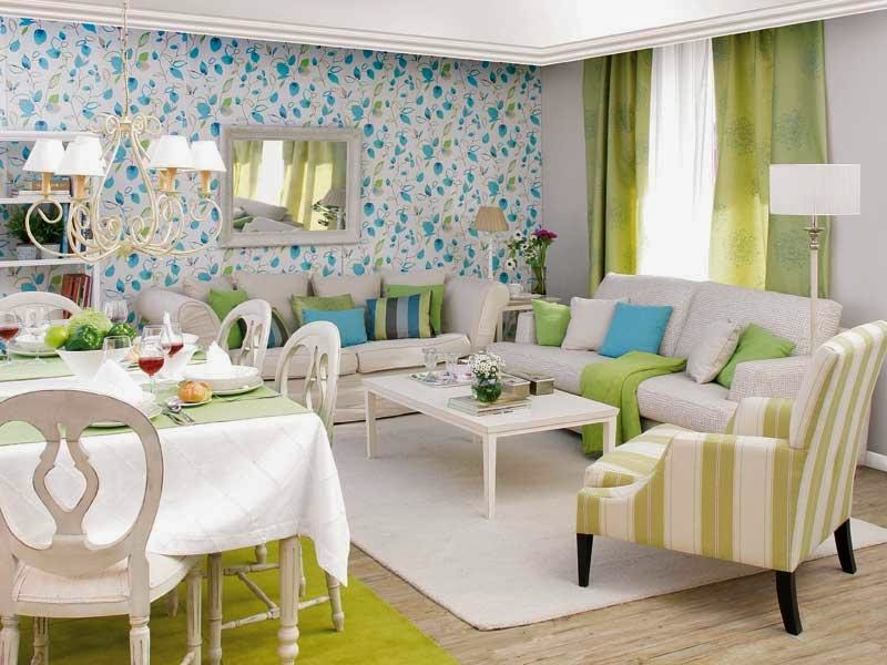 salón comedor verde