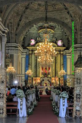 wedding ceremony, san augustin church, Intramuros, Manila, Philippines