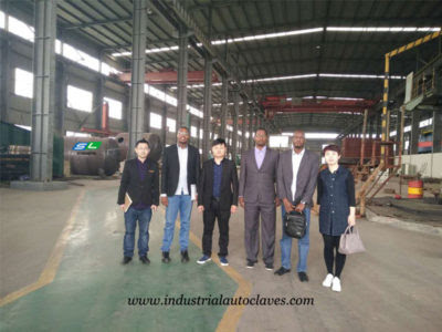Sudan Customers Visited our factory for autoclave Composite manufacturers