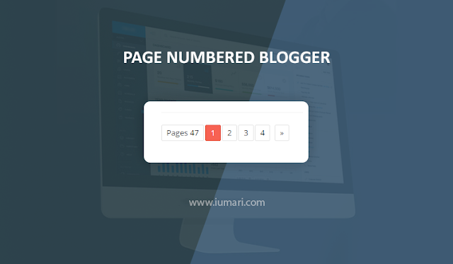 Cara Memasang Page Numbered Ringan di Blog