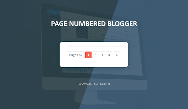 Cara Memasang Page Numbered Ringan di Blog