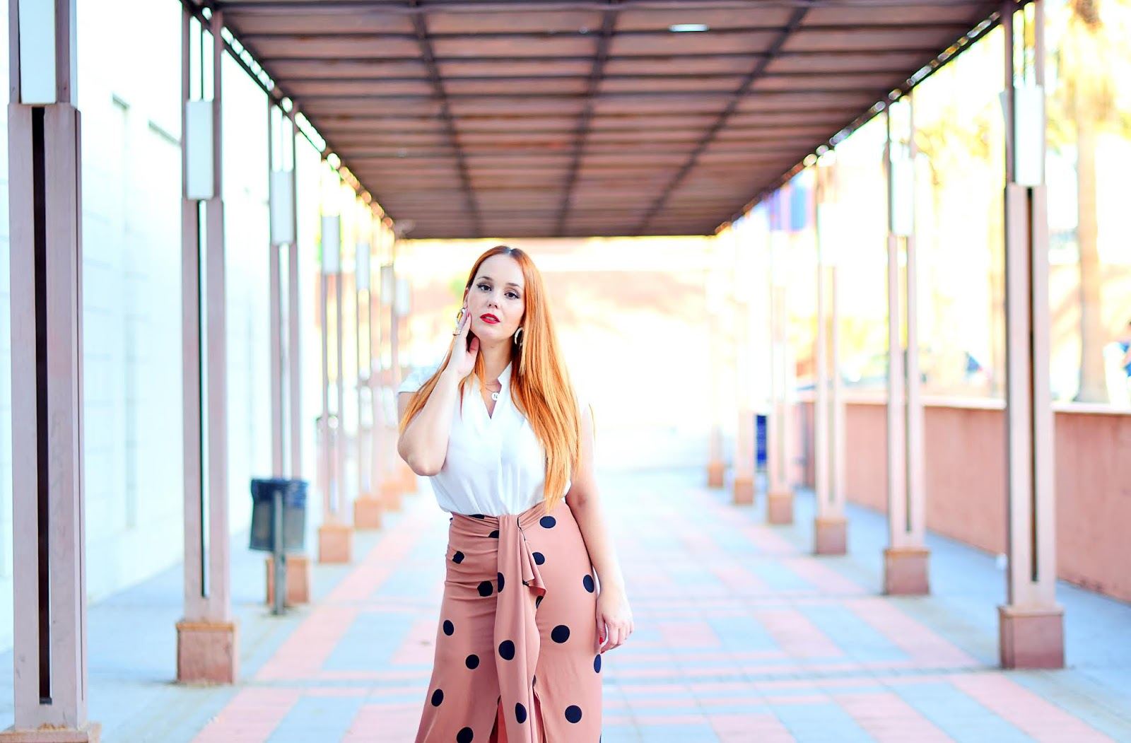 Saturday campus blogger, nery hdez, falda de lunares, sfera,