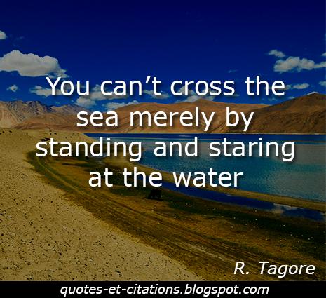 citation traverser la mer