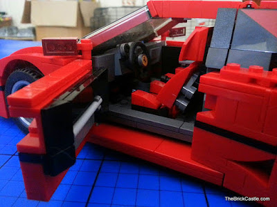 LEGO Ferrari F40 set 10248 interior dashboard