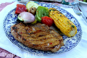 Deep South Dish Grilled Pork Chop With Pepper Jelly Glaze