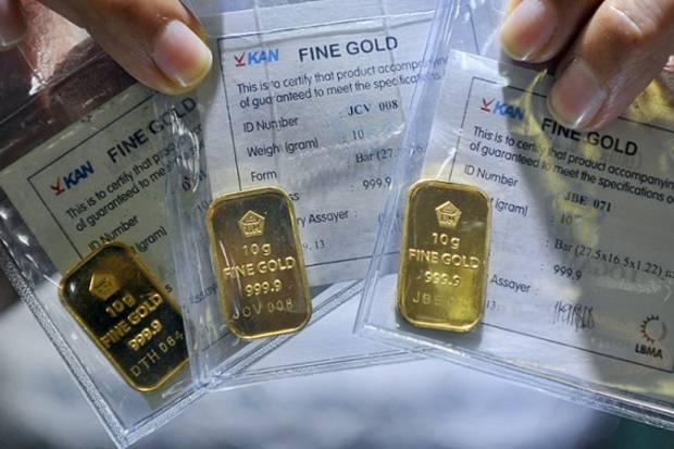 Harga Emas Antam Hari Ini Jumat 26 Agustus Turun