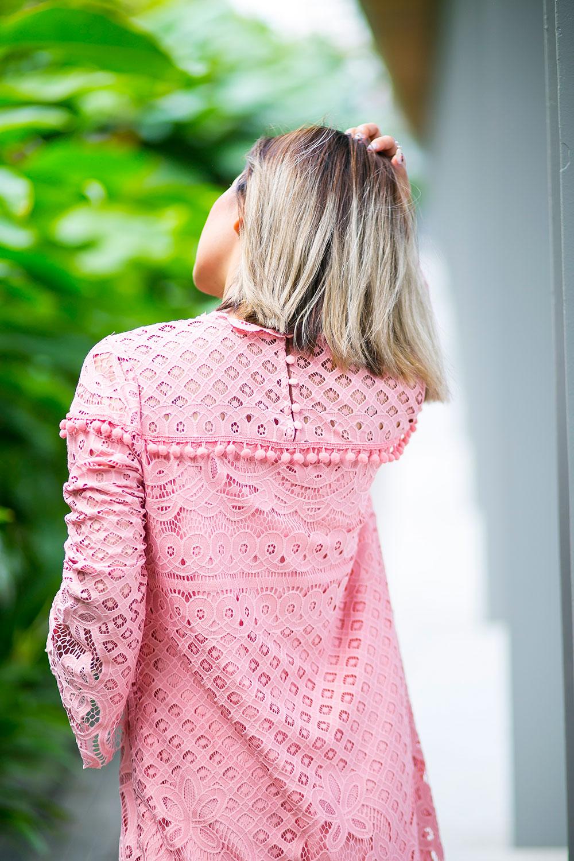 Crystal Phuong- Revolve Clothing x Tularosa pink lace dress- Sweet Love