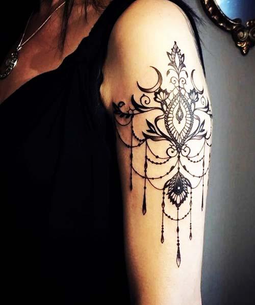 dantel dövmeleri lace tattoos 3