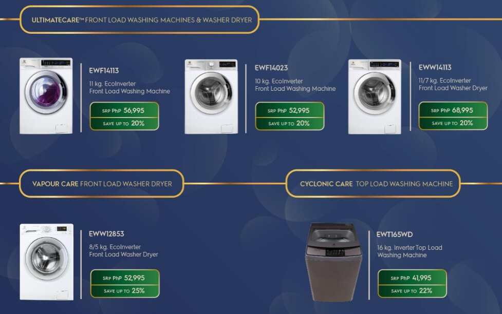 Electrolux Amazing Holideals Washing Machine Promo