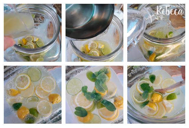 Receta de limonada (o agua de limón) 02
