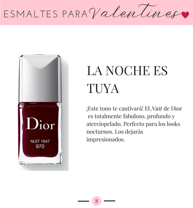 Dior Nuit, Esmaltes para San Valentin