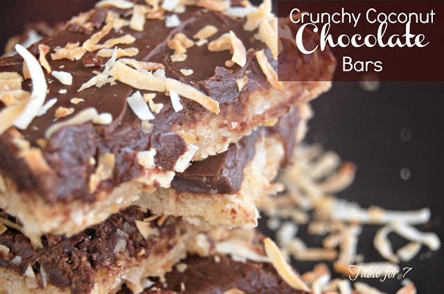Crunchy Coconut Chocolate Bars
