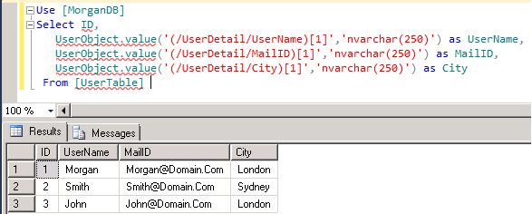 How to Retrieve/Read C# Class Object from Sql Server table