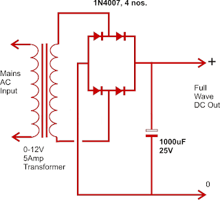 Power supply design using four diodes