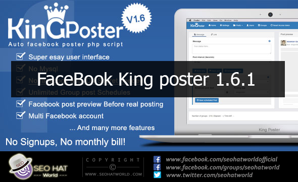Download King Poster Free   Facebook Group Auto Poster Script