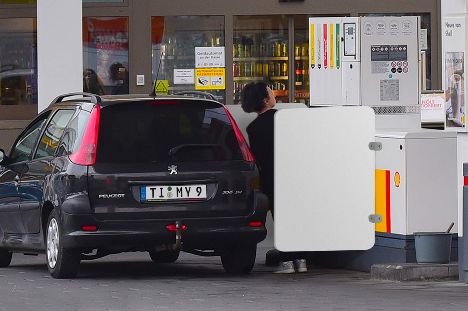 The Postillon: Fuel pumps fitted with shame barriers to