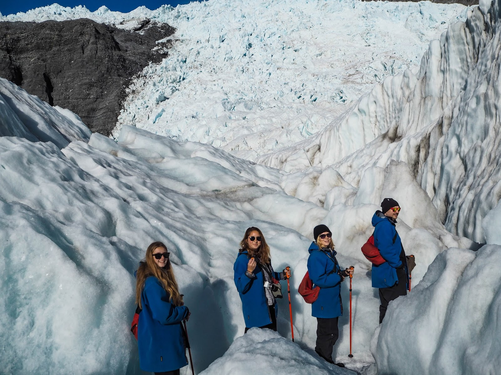 Hiking on Franz Josef Glacier, New Zealand