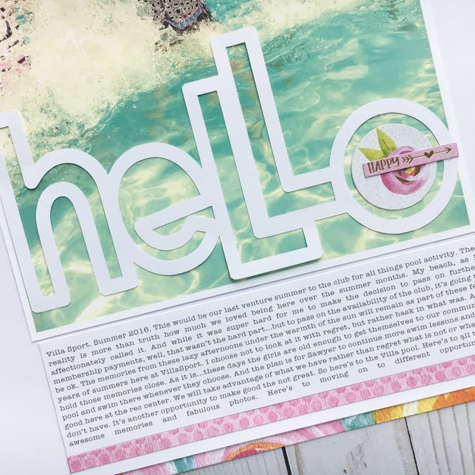 How To Use a Big Title On a Layout Jot Magazine Issue 18 - Hello Layout by Jamie Pate using Bella Blvd Make Your Mark Collection  |  @jamiepate for @bellablvd