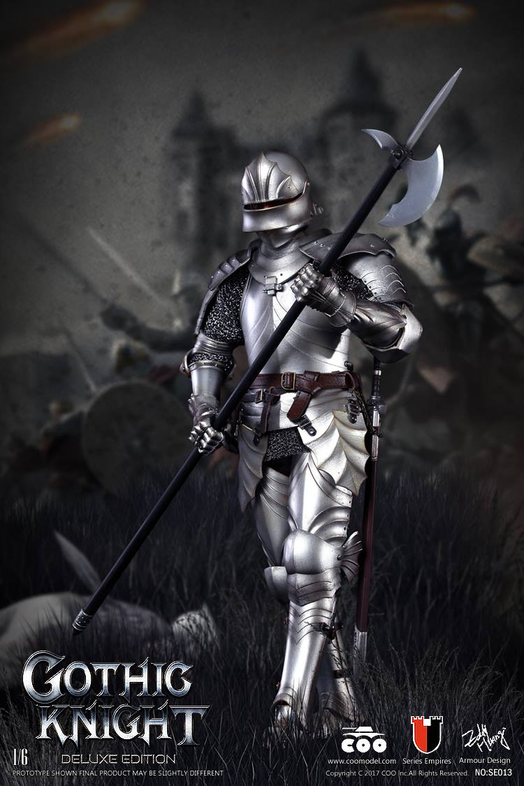 Toyhaven Coomodel 1 6th Scale Series Of Empires Die Cast Gothic Knight 12 Quot Figure Armored Horse