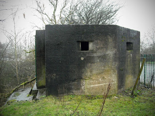 Pillbox facing west  Nr Heywood,Lancashire UK