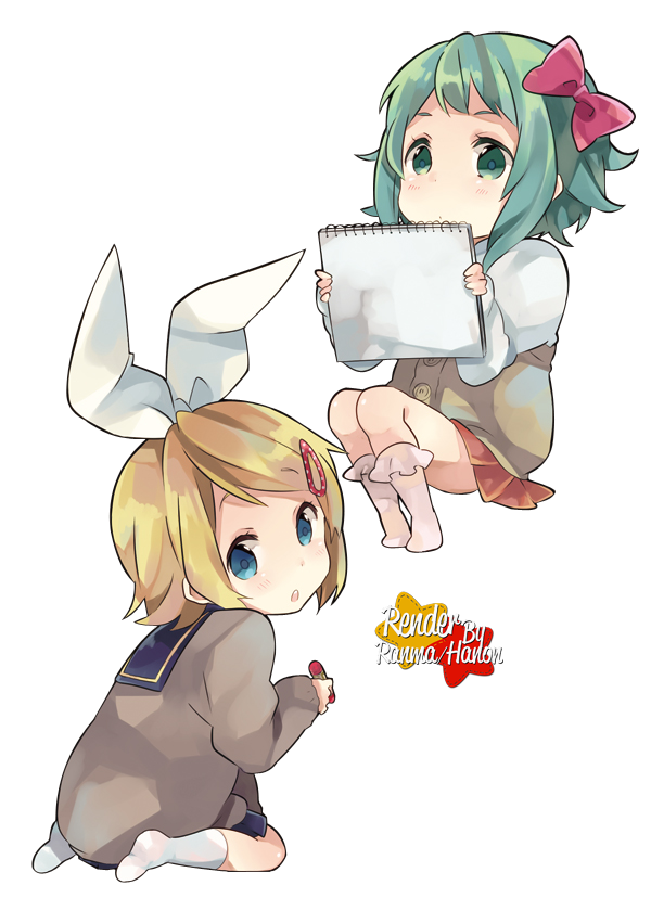 PNG-Rin y Gumi chibis
