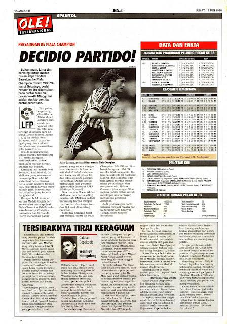 SPAIN LA LIGA LFP 1998 DECIDIO PARTIDO