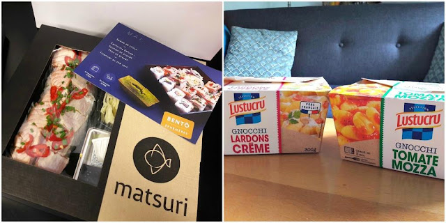 Bento Matsuri cuisine japonaise california maki food yummy Lunchbox Lustucru gnocchi plats préparés