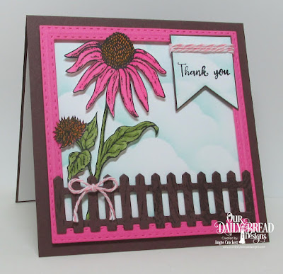 ODBD Forever Friends, ODBD Wood Background, ODBD Custom Double Stitched Squares Dies, ODBD Custom Clouds and Raindrops Dies, ODBD Custom Pennants Dies, Card Designer Angie Crockett