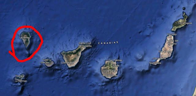 La Palma wśród Wysp Kanaryjskich