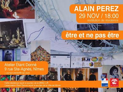 Restitution résidence artiste Alain Perez, 2013. Atelier association Etant donné