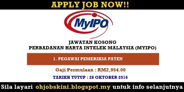 Jawatan Kosong Perbadanan Harta Intelek Malaysia (MyIPO)