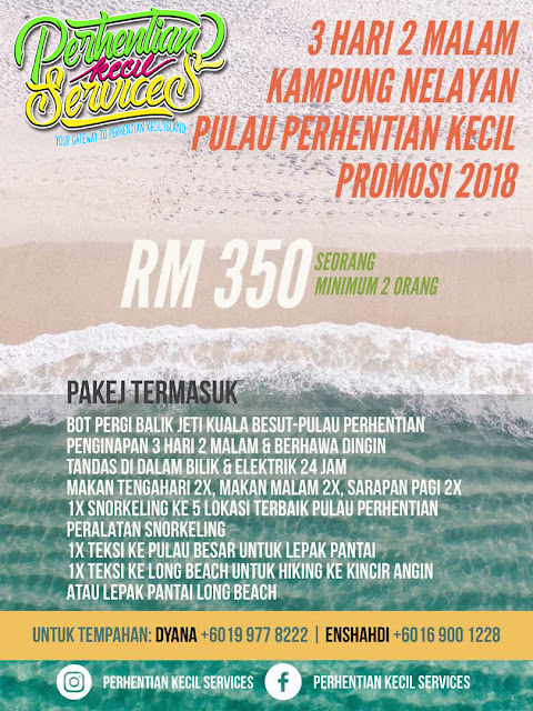 Pakej pulau perhentian Besar 2018 , Kampung nelayan Pulau Perhentian Kecil ,Pakej  Pulau Malaysia , Terengganu