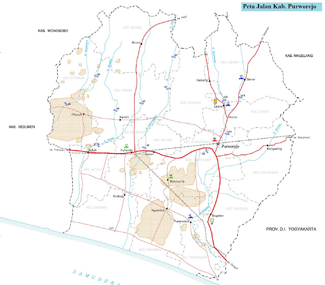 Peta Kabupaten Purworejo HD