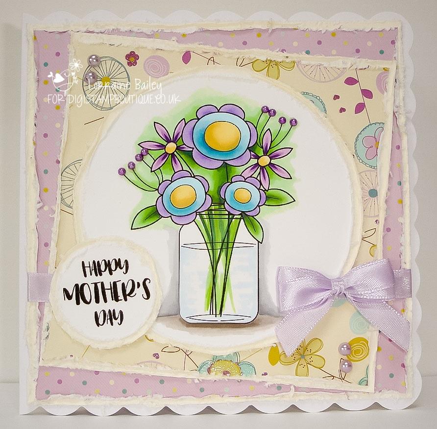 Digistamp Boutique Pretty Flower Vase