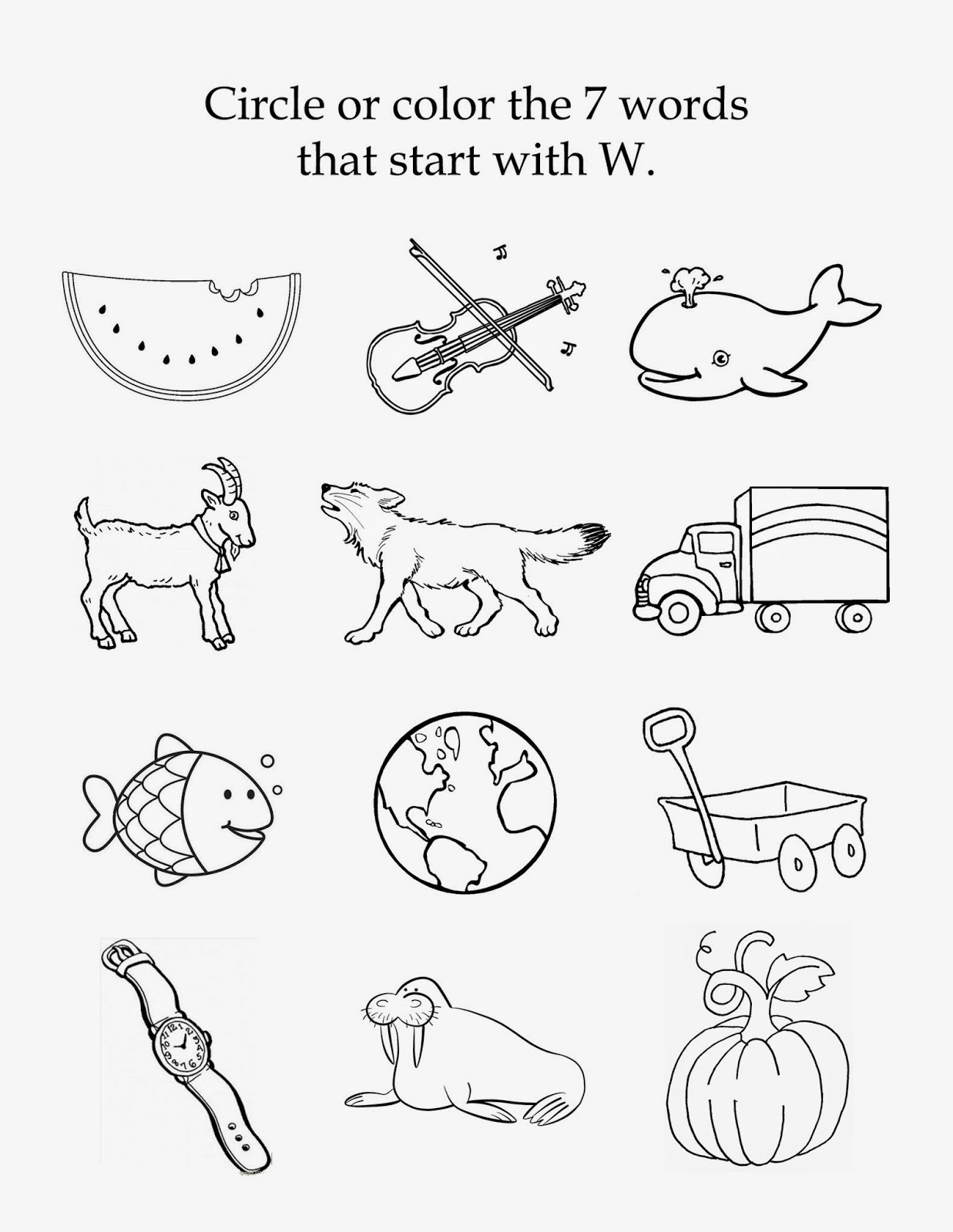 4 letter words that start with w 39 s tot school the letter w 20144 | w beginning sounds copy
