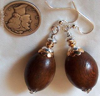 Wood Earrings Handmade Kirsten Designs