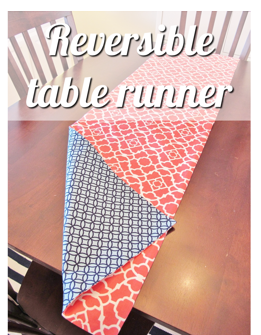 How to Make a Reversible Table Runner | bonnieprojects.blogspot.com