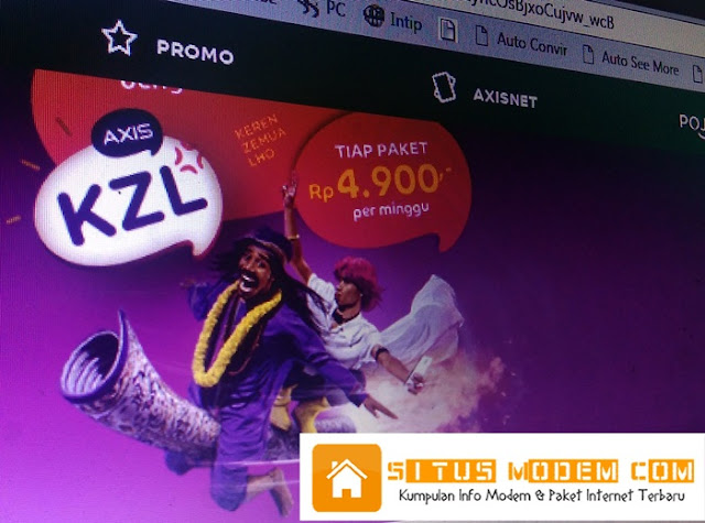 Kini paket KZL AXIS Bisa Untuk Browsing Via Opera Mini