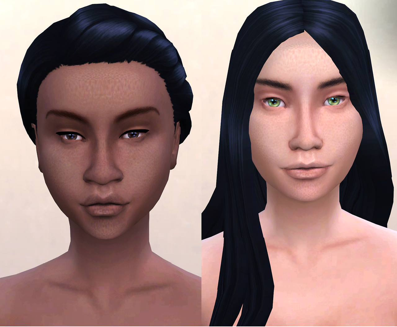 My Sims 4 Blog: Non-Default Skins and Default Tuning by Kijiko