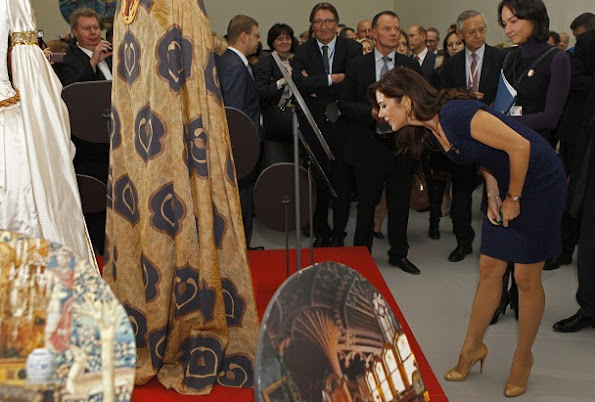 Crown Princess Mary visited the State Hermitage museum in St. Petersburg. Mary wore Prada dress