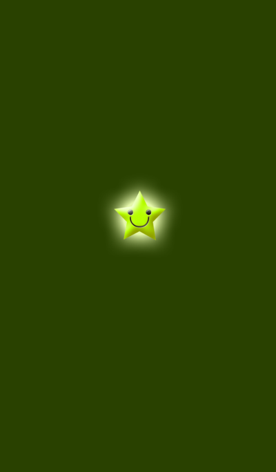 Simple star light green