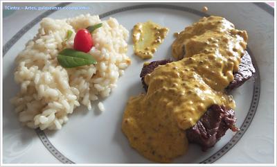 filé; molho mostarda; penne; prato único; massa; MOLHO MOSTARDA