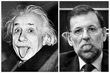 el villano arrinconado, humor, chistes, reir, satira, Rajoy, Einstein