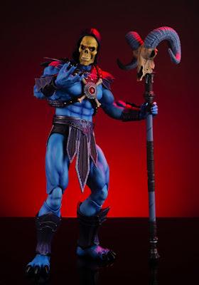"""Figuras: Imágenes y detalles de Skeletor de """"Masters of the Universe"""" - Mondo"""