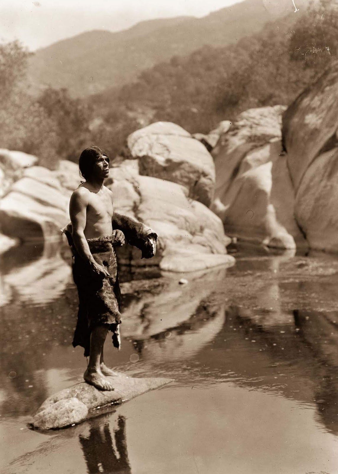 A Mariposa man on the Tule River Reservation. 1924.