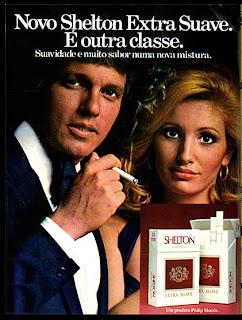 anúncio de cigarros shelton de 1976; propaganda anos 70; história decada de 70; reclame anos 70; propaganda cigarros anos 70; Brazil in the 70s; Oswaldo Hernandez;