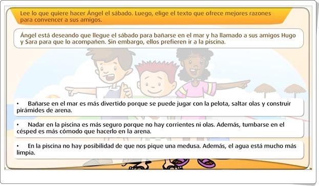 """""""La argumentación"""" (Actividad interactiva de Lengua Española de Primaria)"""