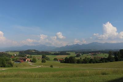 schöne Sicht auf die Alpen