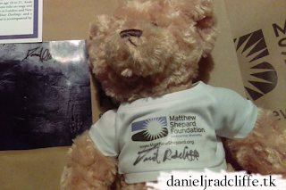 Daniel Radcliffe signed a Teddy Bear to benefit the Matthew Shepard Foundation