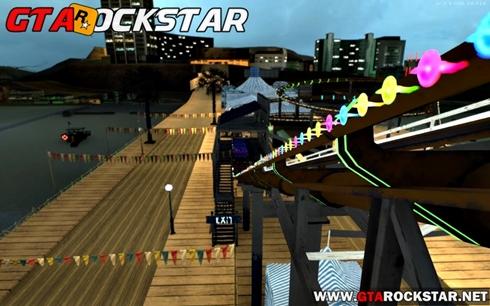 Mod Parque de Diversão do GTA V (GTA V Roller Coaster) para GTA San Andreas Roda gigante do GTA V para GTA SA Parque do GTA V para GTA SA Mod Parque de Diversão do GTA V (GTA V Roller Coaster) convertido do GTA V para GTA SA